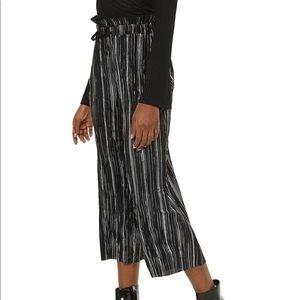 Topshop Metallic Striped Pants